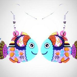 Acrylic Fish Dangle Earrings